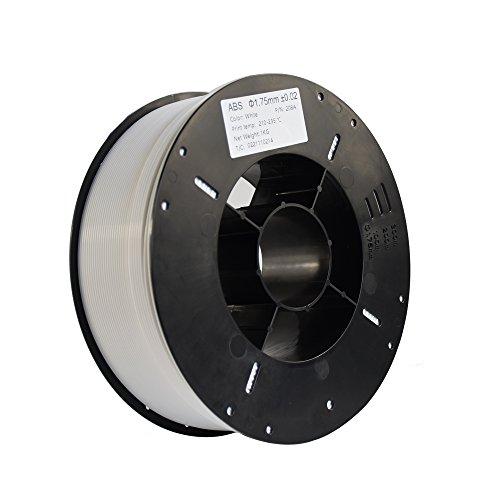HICTOP 3Dプリンター用 高品質で精密 ABS 樹脂 材料 フィラメント【1.75mm】【1kg】 直径精度+/- 0.02mm (ホワイト)