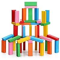 WINOMO 積み木 木製 知育玩具 ブロック おもちゃ カラフル 長方体 想像力と創造力を育てる プレゼント