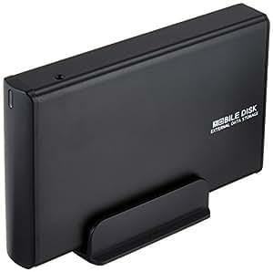 玄人志向 3.5型HDDケース SATA接続 USB2.0対応 マットブラック GW3.5AA-SU2/MB