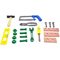 Little Treasures Tools and Bolts Children's Educational Toy Set Deluxe Tool Series Pretend and Play Tool Playset with Tool Carry Case 20 Piece [並行輸入品]