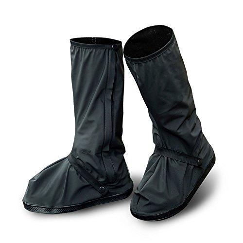 [ezbnb] シューズカバー 防水 雨 泥避け サイズ 靴カバー 梅雨対策 レ 携帯可 レインブーツ 雨具 滑り止め レインカバー 男女兼用 靴の保護 履きやすい 通勤通学 自転車用 S~XL (L(底全長30cm))