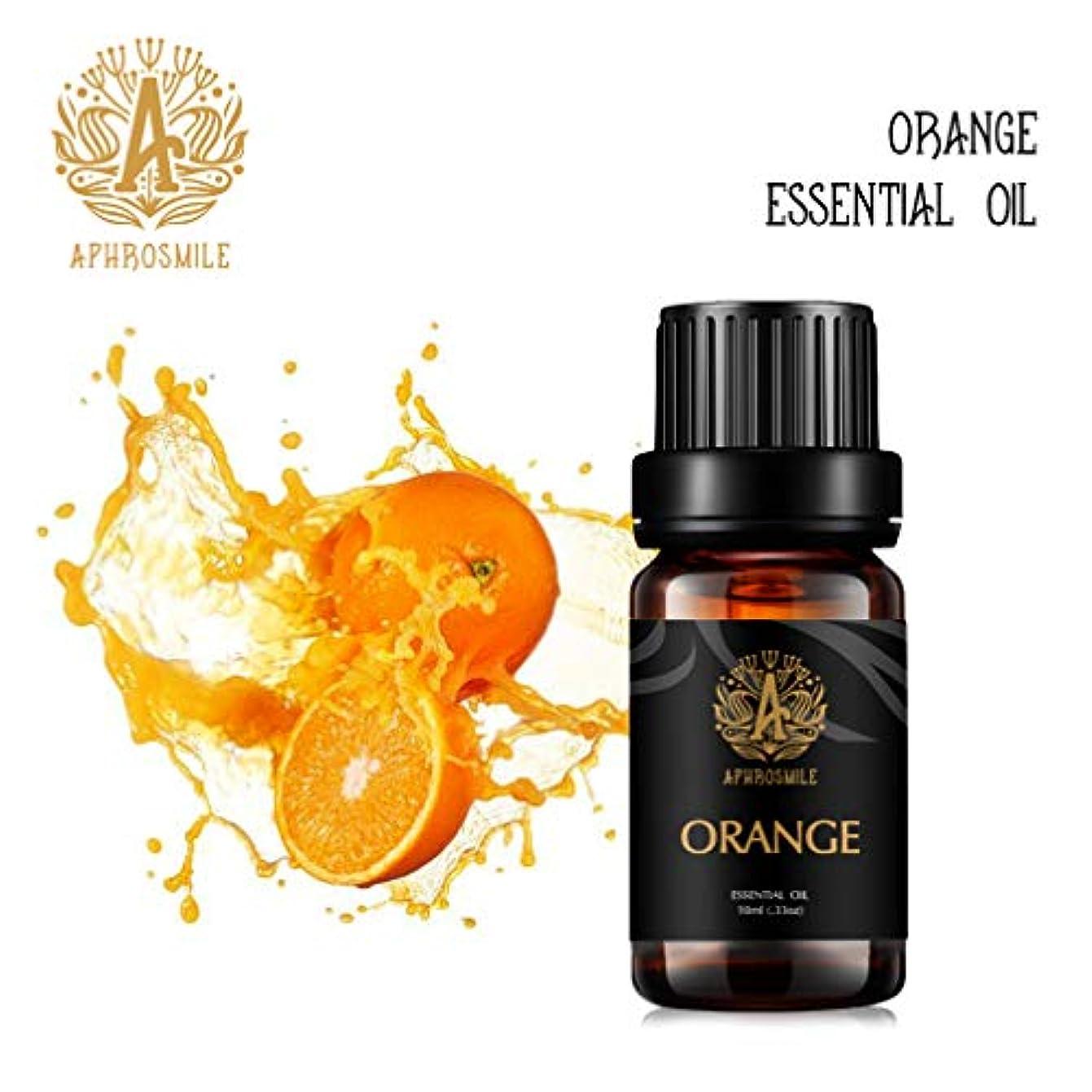 覆す肺漏斗ディフューザー用アロマセラピーオレンジエッセンシャルオイル、加湿器用100%ピュアオレンジエッセンシャルオイルフレグランス、治療グレードのオレンジエッセンシャルオイルはマッサージに使用されます。家庭用0.33oz-10ml