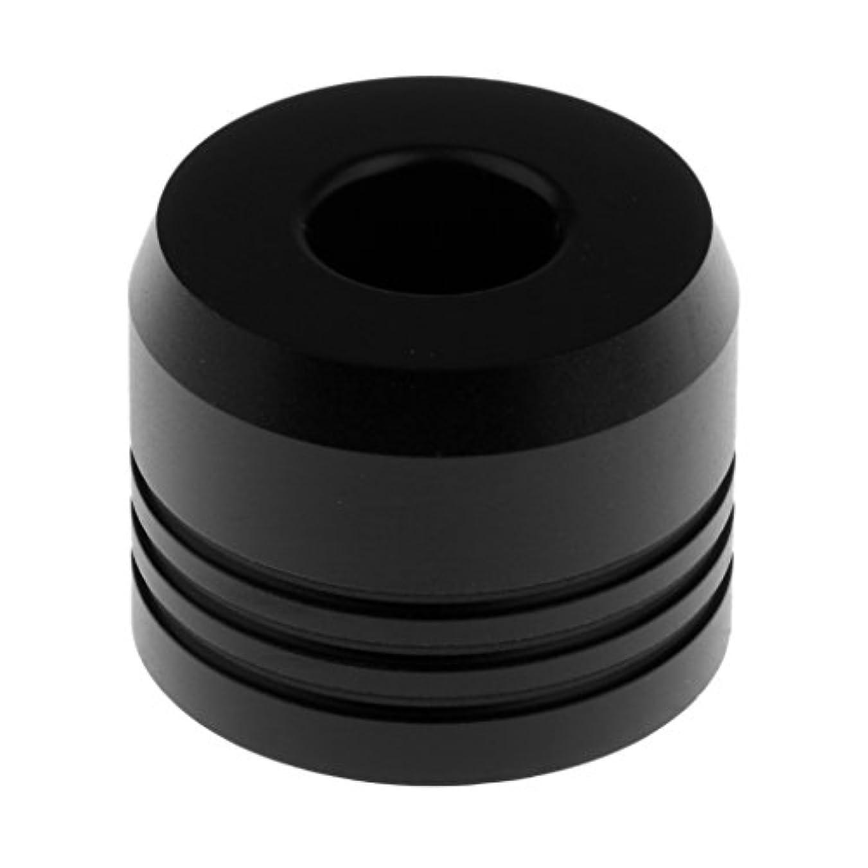 Perfk カミソリスタンド スタンド メンズ シェービング カミソリホルダー サポート 調節可 ベース 2色選べ   - ブラック