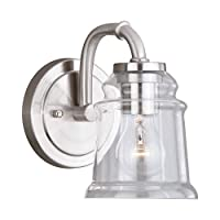 "Vaxcel照明w0239Toledo Singleライト5–1/ 4""ワイドバスルーム壁取り付け用燭台、 W0239 1"