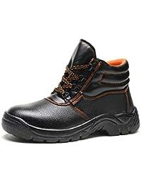 First Encounter 安全靴 作業靴 メンズ レディース ワークブーツ 短靴 黒 セーフティーシューズ 先芯入り 耐油 耐滑 耐摩耗 防水 防汚