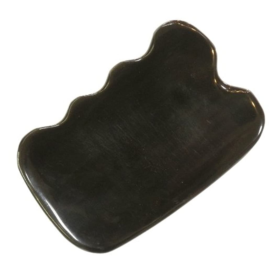 硬さ些細な想像力かっさ プレート 厚さが選べる ヤクの角(水牛の角) EHE272SP 四角波大 特級品 標準(6ミリ程度)