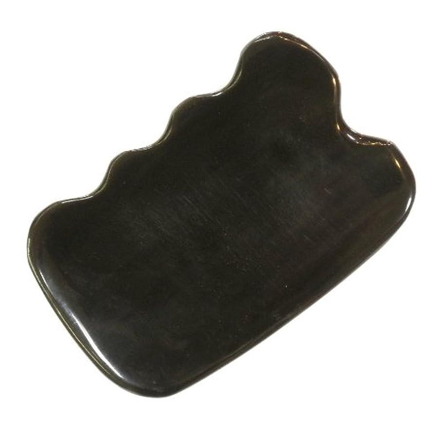 疾患乳望ましいかっさ プレート 厚さが選べる ヤクの角(水牛の角) EHE272SP 四角波大 特級品 標準(6ミリ程度)