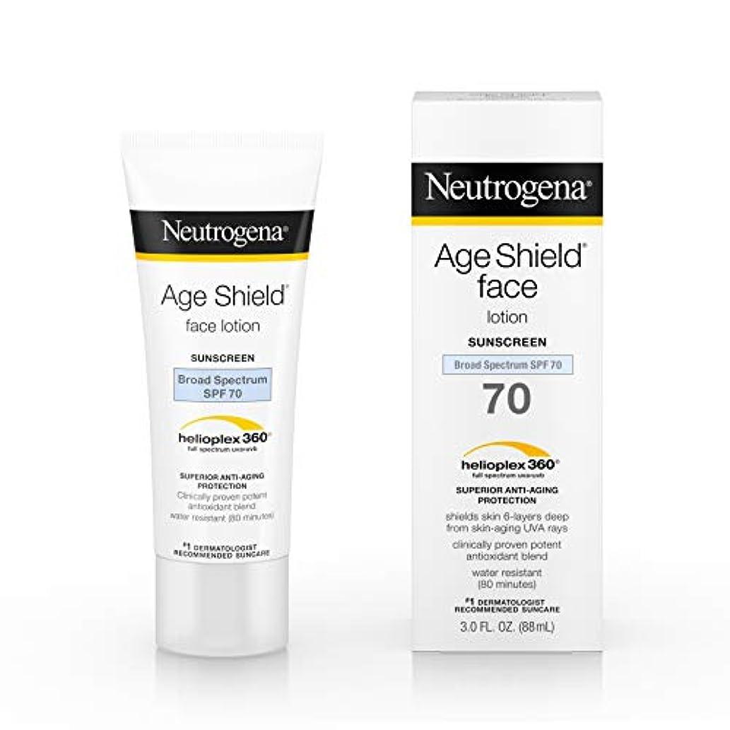 ディスク寄り添う絵Neutrogena Age Shield Anti-Oxidant Face Lotion Sunscreen Broad Spectrum SPF 70, 3 Fluid Ounce