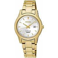 Seiko Women SXDG92P Year-Round Analog Quartz Gold Watch