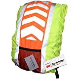 Salzmann High Visibility Reflective 3M Scotchlite Water-Resistant Backpack Rucksack Bag Rain Cover for Cycling or Running Weatherproof
