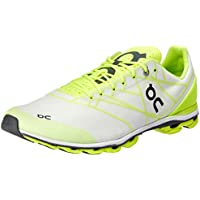 ON Men's Cloudflash Running Shoes, White/Lime