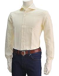 (ジャンネット)GIANNETTO メンズ ドレスシャツ クリームイエロー