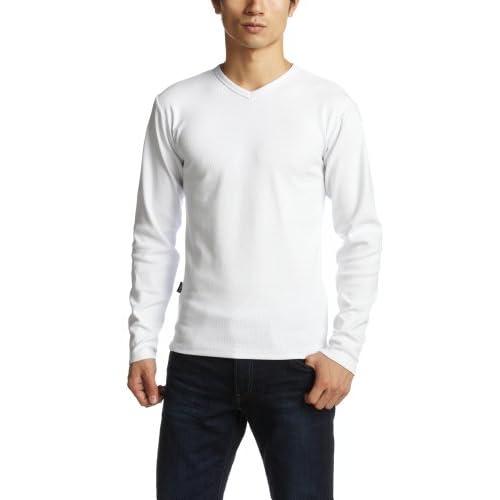 (アヴィレックス)AVIREX DAILY V-NECK LS TEE 6153480 01WHITE ホワイト XL