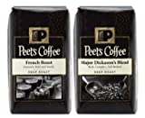 Peet's ピーツ コーヒー フレンチロースト/メジャー・ディカソンズ ブレンド Peet's Coffee French Roast/ Major Dickason's Blend (フレンチロースト1個+メジャーディッカソン1個)海外直送