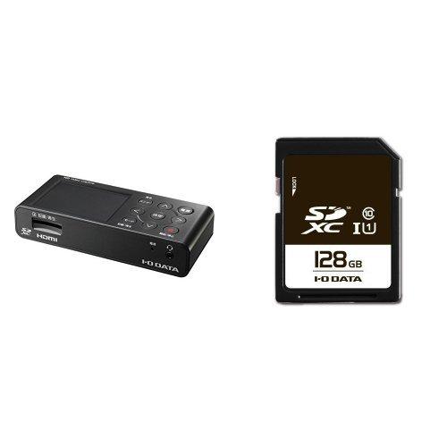 I-O DATA HDMIキャプチャー フルHD SDカード/HDD保存 GV-HDREC + SDXCカード 128GB UHS-I(スピードクラス1)/Class10対応 EX-SDU1/128G セット