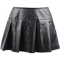 Killreal Women's Punk Rock Faux Leather Bodycon Short Skirt
