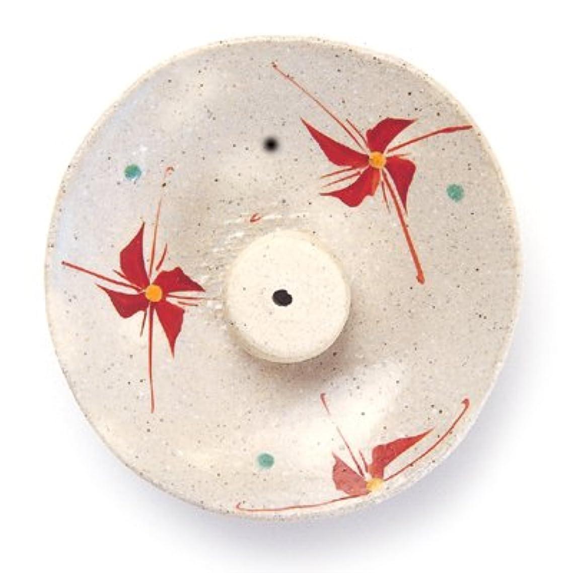 シルク腰お風呂を持っている香皿 赤絵花文 虚空蔵窯 作