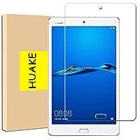Huawei Mediapad M3 Lite 8.0 ガラスフィルム 【1枚セット】HUAKE 強化ガラス日本素材採用 硬度9H 超薄0.33mm 2.5D 耐衝撃 撥油性 超耐久 耐指紋 飛散防止処理 Huawei Mediapad M3 Lite 8.0 液晶 保護 フィルム (Huawei Mediapad M3 Lite 8.0用)