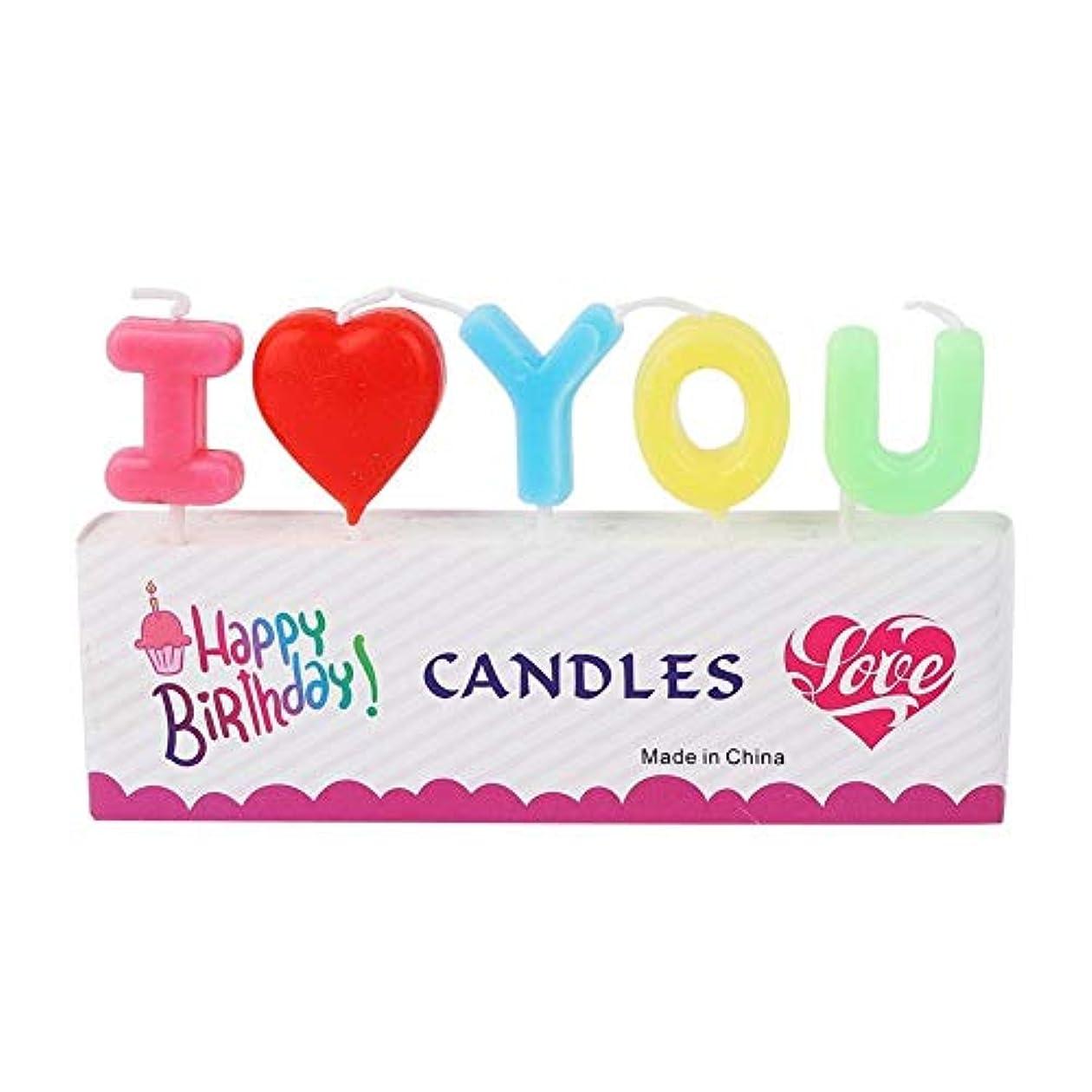 冷蔵するデイジー容疑者装飾キャンドル Vobar 文字型キャンドル I Love You 誕生日 記念日 パーティー 結婚式 プロポーズ 告白道具用