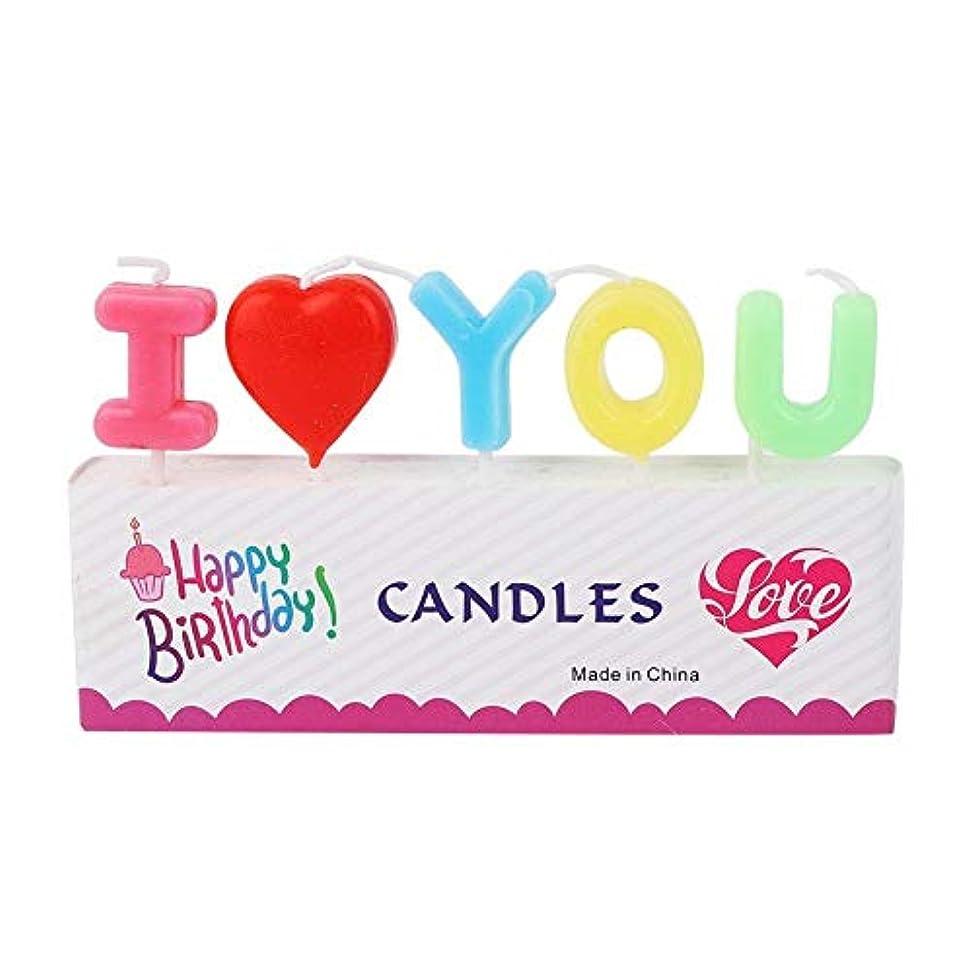 どこかシロナガスクジラ半導体装飾キャンドル Vobar 文字型キャンドル I Love You 誕生日 記念日 パーティー 結婚式 プロポーズ 告白道具用