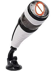 メンズマッサージ、ホワイト自動電動マッサージ、10種類の振動周波数、5種類の回転モード、5種類の伸縮マッサージ機