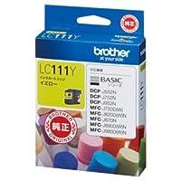 (まとめ) ブラザー BROTHER インクカートリッジ イエロー LC111Y 1個 【×4セット】