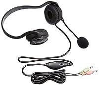 iBUFFALO 両耳ネックバンド式ヘッドセット ブラック BSHSN02BK