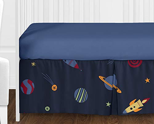 Sweet Jojo Designs 11-Piece Space Galaxy Rocket Ship, Planet, Galactic Baby Boy or Girl Bedding Crib Set Without Bumper