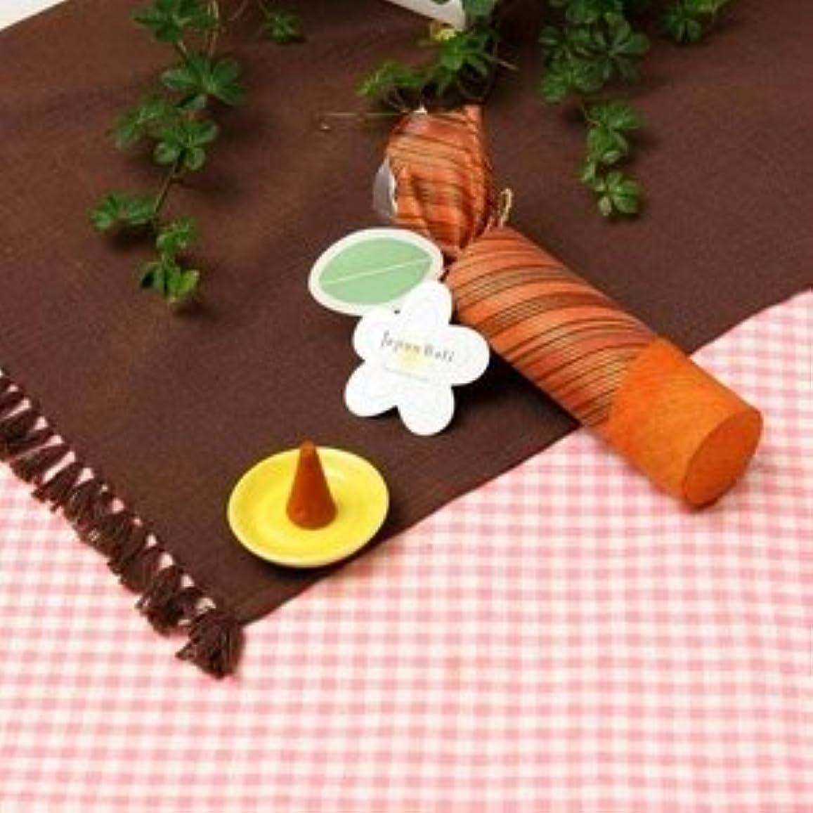 開いた呼吸するヒープお香/インセンス 【サンダルウッドの香り コーンタイプ10個入り】 バリ島製 「Jupen Bari/ジュプンバリ」