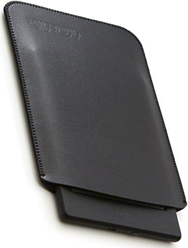 V.M kindle   Paperwhite   Voyage   Oasis スリーブ ケース レザー [高品質高性能] 軽 薄 皮 革 キンドル オアシス スリーブケース 純正 スリップイン スリップ カバー キンドルオアシス スリップインケース Oasisケース ブラック KindleOasis 黒 艶消