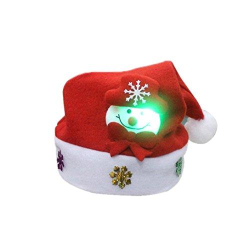 Goenn LED 発光 クリスマス 帽子 クリスマス パーティー イベント コスチューム用小物 コ...