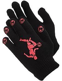 キッズ?子供 ボーイズ サッカーデザイン サーマル マジックグローブ ニット手袋 男の子