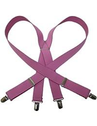 (エクサス)EXAS 無地サスペンダー(通常サイズ 幅3cm 日本製) ピンク
