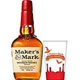 バーボンウイスキー メーカーズマーク 700ml 非売品オリジナルグラス付 [ ウイスキー アメリカ ]
