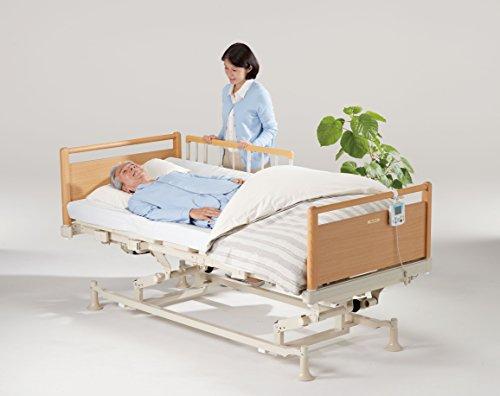 【フランスベッド】自動寝返り支援ベッド FBN-640 (労力軽減 在宅用 固定脚)+マットレス+サイドレール