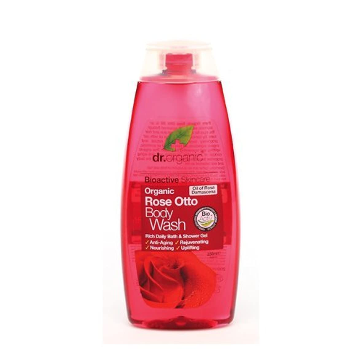 巨大純正忠実Dr Organic Rose Otto Body Wash 250ml by Dr. Organic