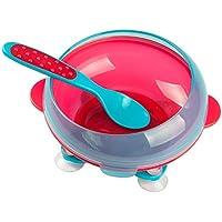 B Baosity 全2色 ベビー食器 ボウル 吸盤付き 吸盤ボウル トレーニングボウル 滑り止め  - 赤