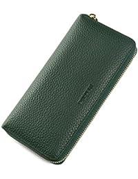 [Mandiva]財布 レディース 長財布 本革 セパレート型 小銭入れ 大容量 ラウンドファスナー トップレザー