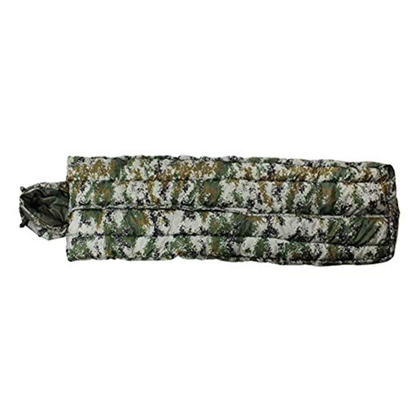 地下蒸し器シェード迷彩キャンプ寝袋帽子軽量コンパクト暖かい室内用スリーピングパッド大人用ハイキングバックパックアウトドアアクティビティ(カラー:B)