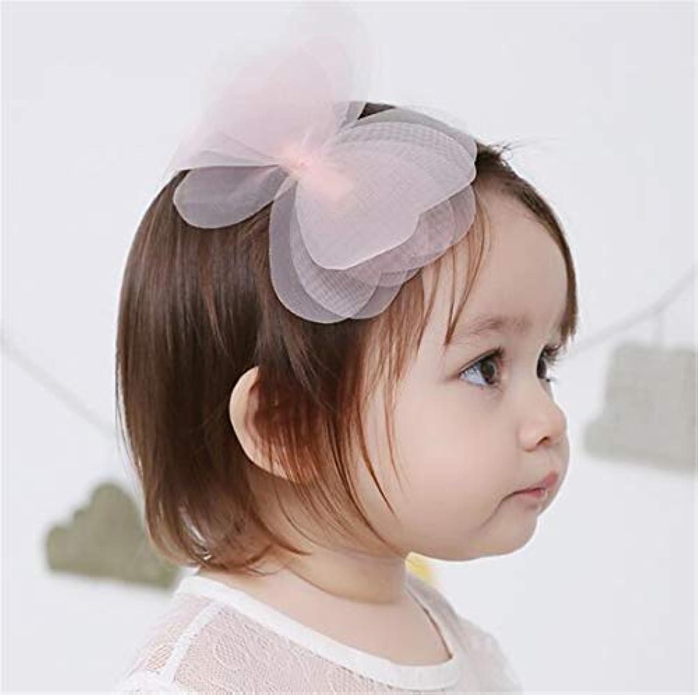 Tmrow 1個 赤ちゃん ベビー 弾性 ターバン ヘアバンド 髪留め 写真 柔軟性 ソフト 40cm
