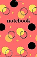 Notebook: Soft Cover Notebook Journal | 200 Pages | Red Cover Black & Yellow Circle