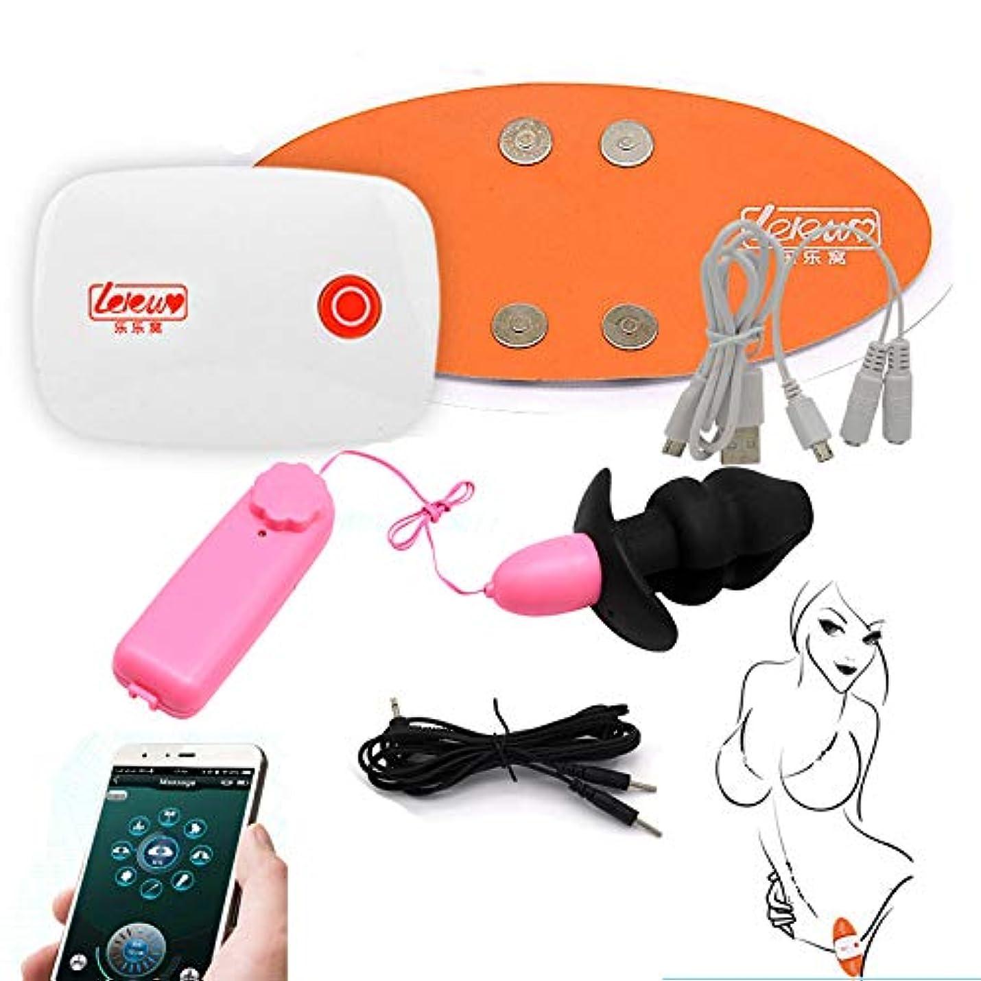 ブランデー海上学校教育ローターアナルプラグ スマホ連携アナルプレイ 低周波セット 前立腺グッズ アナルオナニー パルス刺激アナル開発膣拡張 大人のおもちゃ あなるセックス(ピンクローター+ 中空プラグ+Bluetooth接続パルス刺激)
