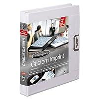 Wilson Jones Custom Imprint Presentation Binder, 1 Inch Capacity, Letter Size, White (W46101) by Wilson Jones