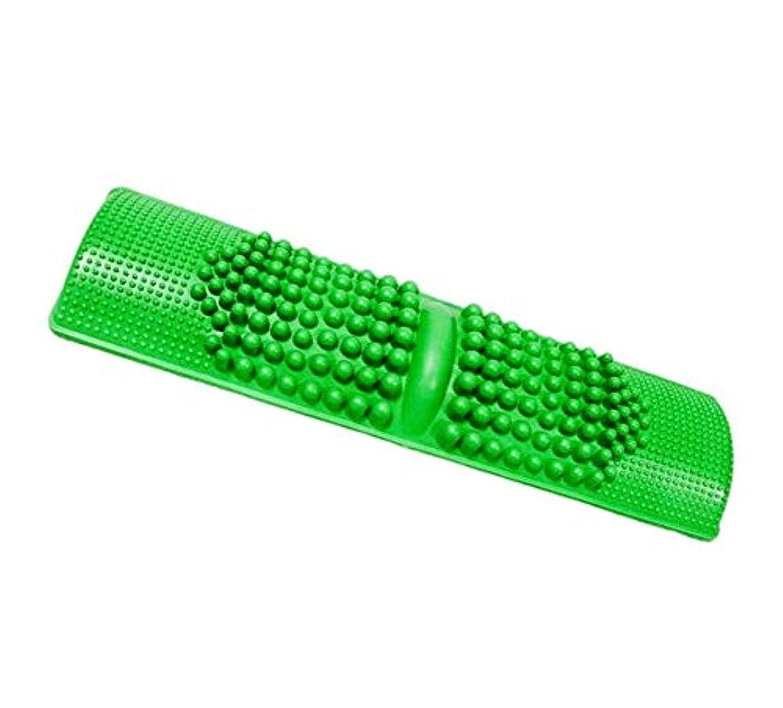 増幅器まっすぐ起きろDamine 簡単に健康維持 足つぼマッサージ BIGサイズ 足 踏み 足裏 刺激 血行促進 (グリーン)