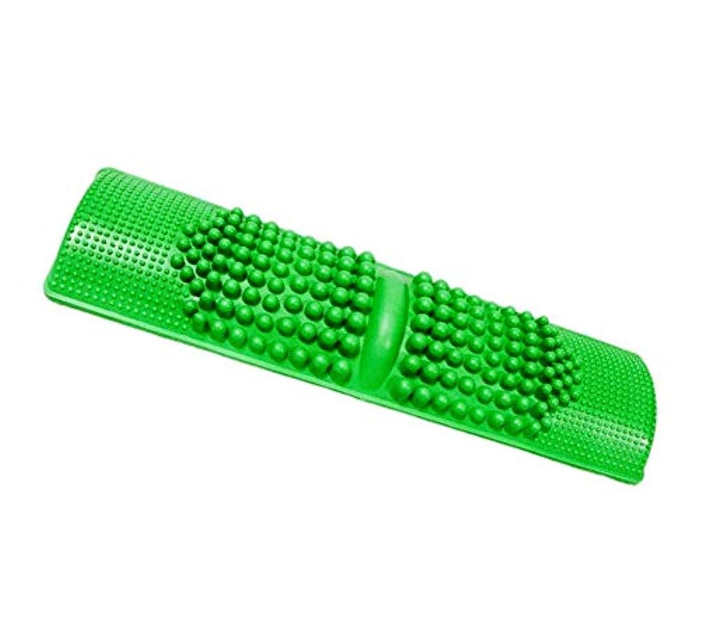 ガラス再集計思慮のないDamine 簡単に健康維持 足つぼマッサージ BIGサイズ 足 踏み 足裏 刺激 血行促進 (グリーン)