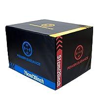 POWER GUIDANCE 3 in 1 ソフトプライオボックス 30 24 20インチ フォームプライオメトリックジャンプボックス バスケットボール フットボール バレーボール テニストレーニング用