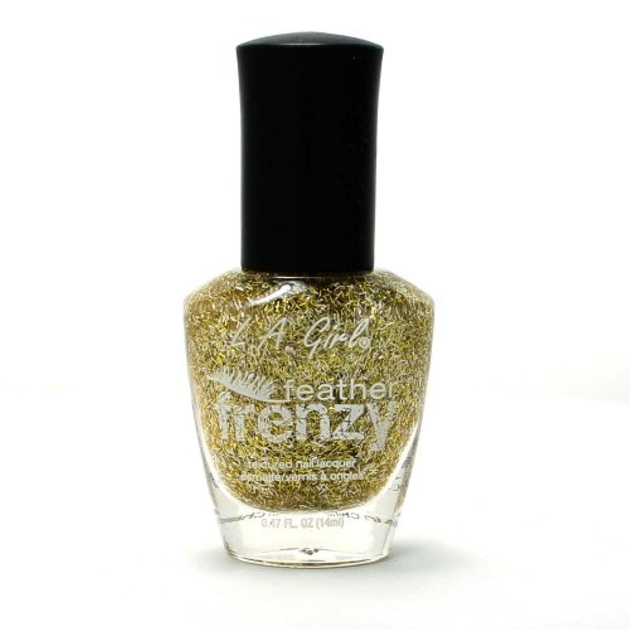 ロッカー肥料通行料金(3 Pack) LA GIRL Feather Frenzy Nail Polish - Canary (並行輸入品)