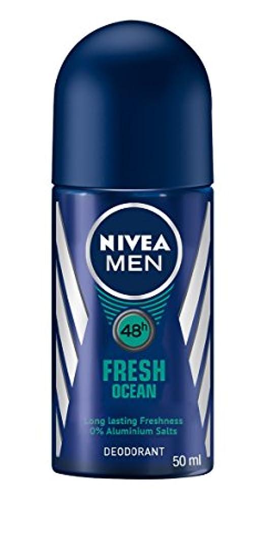 不毛教育学収穫Nivea Fresh Ocean Deodorant Roll On for Men 50ml - ニベア新鮮な海洋デオドラントロールオン男性用50ml