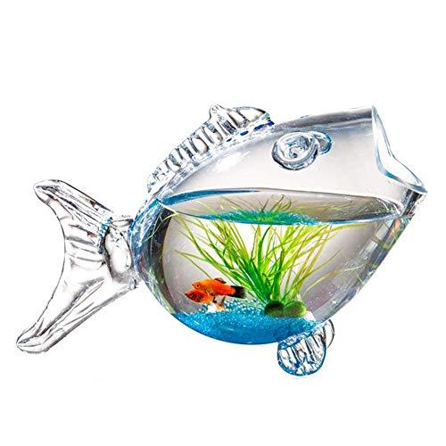 OMEM ガラス金魚鉢-DIY魚の形の水槽 クリエイティブ水族館 熱帯魚 ミニアクアリウム