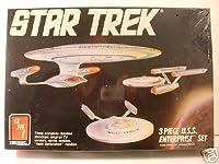 amt スタートレック USSエンタープライズ3点セット モデルキット1988 Star Trek  U.S.S. Enterprise Starship 3Piece